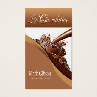 """""""Le Chocolatier"""" - Gourmet Chocolates, Sweets Business Card"""