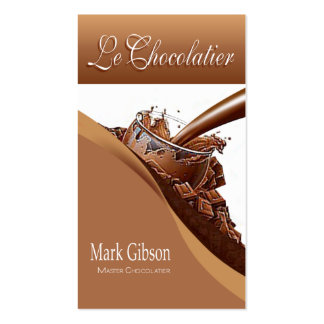 """""""Le Chocolatier"""" - Gourmet Chocolates, Sweets Double-Sided Standard Business Cards (Pack Of 100)"""
