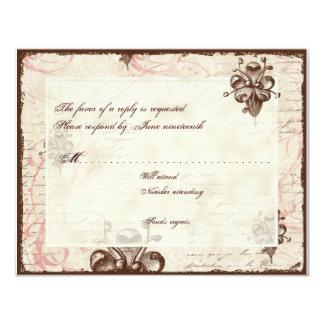 Le Chocolatier - Rose, RSVP Card Custom Invites