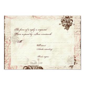 Le Chocolatier - Rose, RSVP Card Personalized Invite