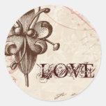 Le Chocolatier - Rose, Wedding Seals Classic Round Sticker