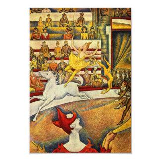 """Le Cirque (el circo) por Jorte Seurat Invitación 3.5"""" X 5"""""""