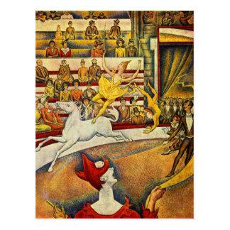 Le Cirque (el circo) por Jorte Seurat Tarjetas Postales