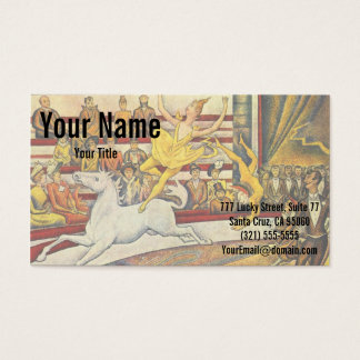 Le Cirque ( The Circus ) by Georges Seurat Business Card