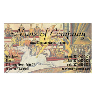 Le Cirque ( The Circus ) by Georges Seurat Business Cards
