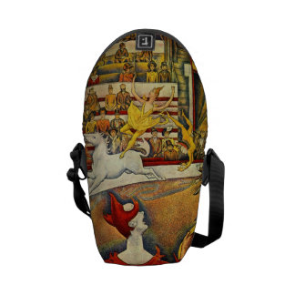 Le Cirque ( The Circus ) by Georges Seurat Messenger Bags