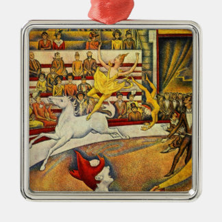 Le Cirque ( The Circus ) by Georges Seurat Metal Ornament