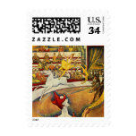 Le Cirque ( The Circus ) by Georges Seurat Stamp