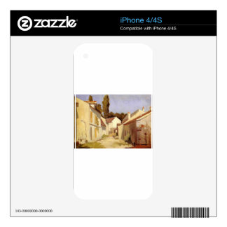 Le Clos des Abbesses by Gustave Caillebotte Skin For The iPhone 4S