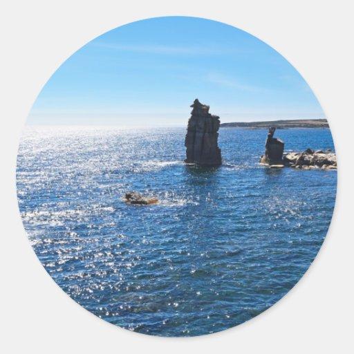 Le Colonne - isla de San Pedro Etiqueta Redonda