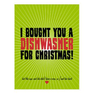 Le compré un lavaplatos para el navidad postales