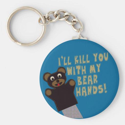 Le conseguiré con mis manos del oso llavero personalizado