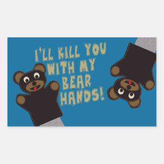 Le conseguiré con mis manos del oso rectangular altavoz