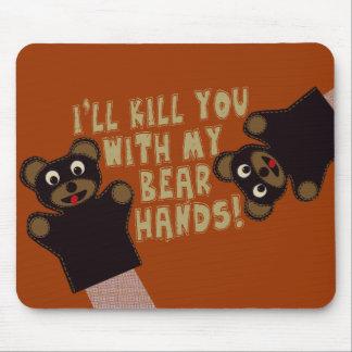 Le conseguiré con mis manos del oso tapetes de raton