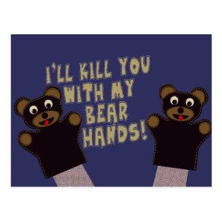 Le conseguiré con mis manos del oso postal
