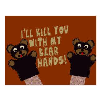 Le conseguiré con mis manos del oso postales