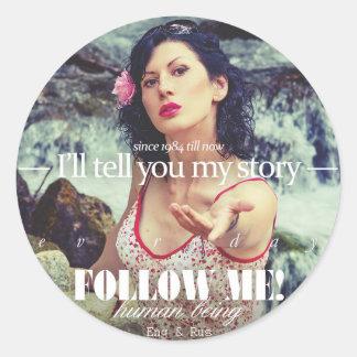 - Le contaré mi historia - Pegatina Redonda