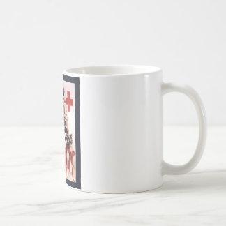 Le convoco a la camaradería en el Cross~WW rojo I Taza De Café