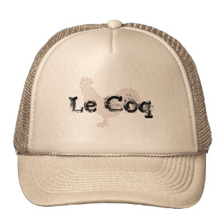 Le coq Hat design with funny play on words
