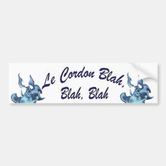Le Cordon Blah, Blah, Blah Bumper Sticker