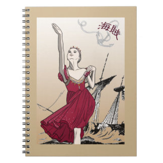 Le Corsaire pirate Spiral Notebook