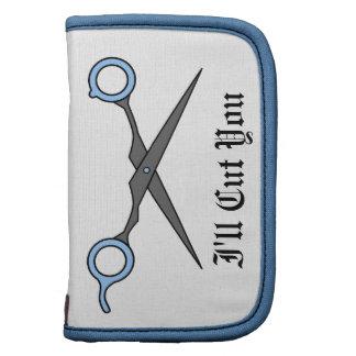 Le cortaré (las tijeras azules del corte del pelo) planificador