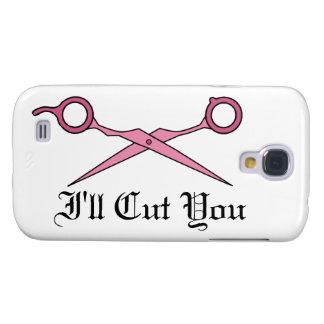 Le cortaré (las tijeras rosadas del corte del pelo funda para galaxy s4
