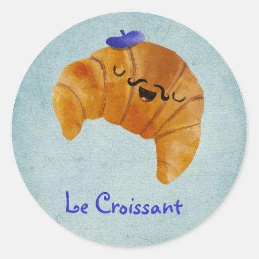 Le Croissant Pegatina Redonda