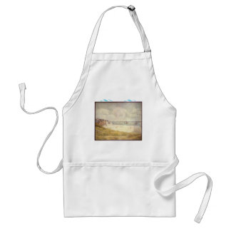 Le Crotoy, downstream by Georges Seurat Adult Apron
