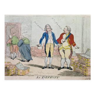 Le Deficit, 1788 Postcard