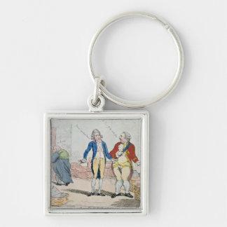 Le Deficit, 1788 Silver-Colored Square Keychain