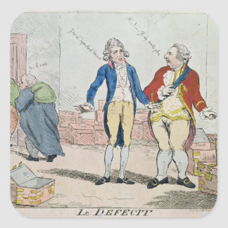 Le Deficit, 1788 Square Sticker
