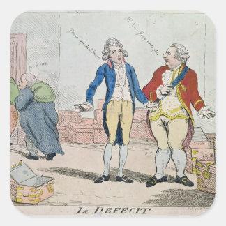 Le Deficit, 1788 Square Stickers