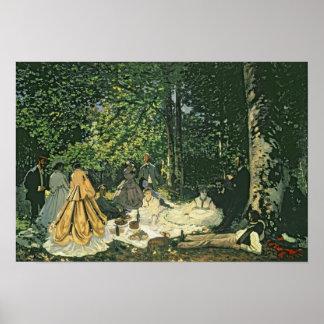 Le Dejeuner sur l'Herbe, 1865-1866 Poster