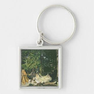 Le Dejeuner sur l'Herbe, 1865-1866 Silver-Colored Square Keychain