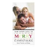 Le deseamos Felices Navidad Tarjetas Con Fotos Personalizadas