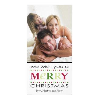 Le deseamos Felices Navidad Tarjetas Personales Con Fotos