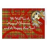 Le deseamos navidad mágico… y un feliz tarjeta de felicitación