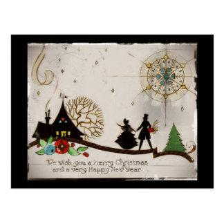 Le deseamos una silueta de las Felices Navidad