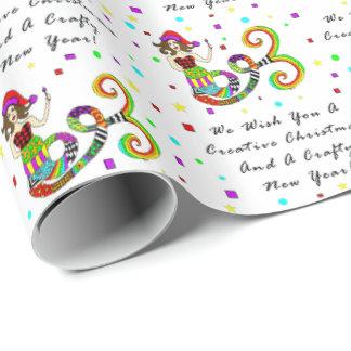 Le deseamos una sirena creativa del navidad papel de regalo