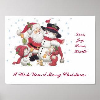 Le deseo Felices Navidad Póster