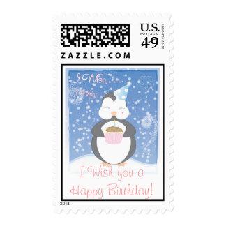 ¡Le deseo un feliz cumpleaños! Pingüino del bebé Envio