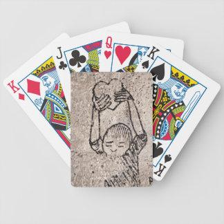 Le doy mi corazón barajas de cartas