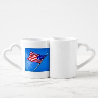 LE DRAPEAU AMÉRICAIN EN CŒURS ! COFFEE MUG SET