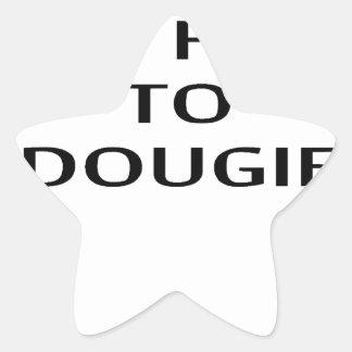 LE ENSEÑARÉ a CÓMO A DOUGIE T-Shirts.png Pegatina En Forma De Estrella
