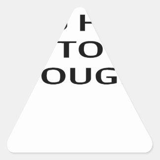 LE ENSEÑARÉ a CÓMO A DOUGIE T-Shirts.png Pegatina Triangular
