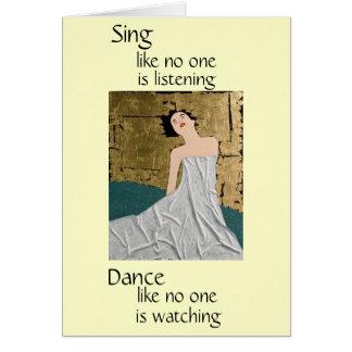Le espero danza felicitacion