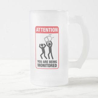 Le están supervisando - humor de la oficina tazas de café