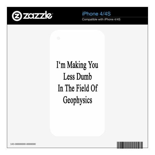Le estoy haciendo menos mudo en el campo de Geophy iPhone 4 Calcomanías