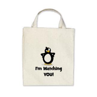 Le estoy mirando pingüino bolsa de mano